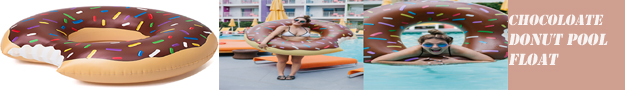 CHOCOLATE DONUT POOL FLOAT  As Seen On TV