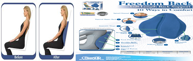 CONTOUR FREEDOM BACK PILLOW As Seen On TV